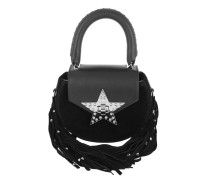 Mimi Fringe Bling Star Small Tote Bag Black Tasche