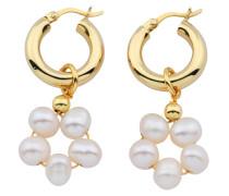 Ohrringe Hoops X Pearl Hoop Earrings Gold