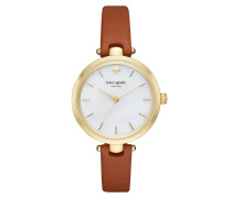 Holland Skinny Strap Gold Watch Luggage Uhr
