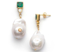 Ohrringe Baroque Pearl Bling Earrings Posy Green