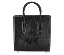 Paloma Clutch Small Sequins Glitter Leather Black Tote