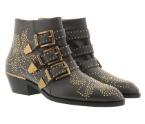 Susanna Leather Studs Boots Obsucre Grey Schuhe