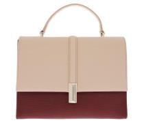 Satchel Bag Nathalie Top Handle Bag Dark Red rot