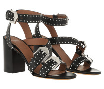 Sandalen Studded Buckle Sandals Leather Black schwarz