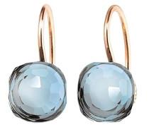 Ohrringe Earrings Happy Holi Topas Skyblue Cabochon Rosegold