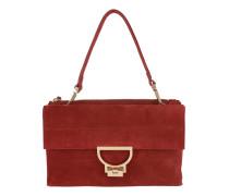 Arlettis Suede Crossbody Bag Large Bourgogne Satchel Bag