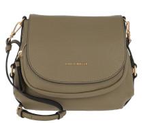 Janine Shoulder Bag Grained Leather Militaire Tasche