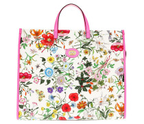 Tote Flora Tote Bag Large White/Floral Print rosa