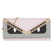 Continental Wallet With Chain Leather Light Pink