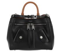 Shoulder Bag Zipper Fantasia Nero Tote