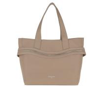 Tote Zip Handle Bag Real Taupe