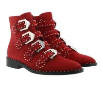 Elegant Studs Boots Red Schuhe