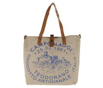 Textile Shopping Tote /Naturale/St.Blue Tote
