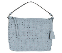 Hobo Bag Weave Paglia di Vienna Leather Shoulder Bag SM Light Blue blau