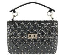 Rockstud Shoulder Bag Patent Black