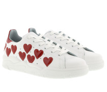 Sneaker Heart_ White/Red Sneakers