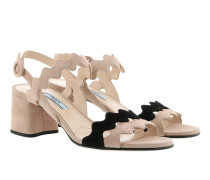 Wavy Cut Sandals Nude/Nero Sandalen