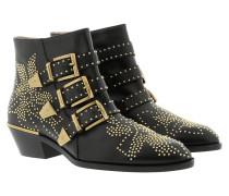 Susanna Studs Boots Black/Gold Schuhe