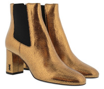 Loulou 70 Chelsea Ankle Boot Chestnut Schuhe weiß|Loulou 70 Chelsea Ankle Boot Chestnut Schuhe gold