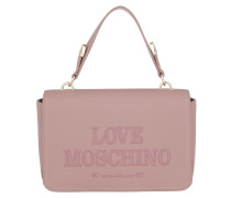 Satchel Bag Logo Engraved Crossbody Bag Cipria rosa