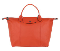 Tote Le Pliage M Leather Rust rot