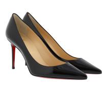 Decollete Patent Leather Heel Pumps Black Pumps