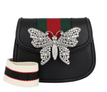 Totem Small Shoulder Bag Butterfly Nero Tasche