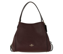 Tote Polished Pebble Leather Edie 31 Shoulder Bag Oxblood lila