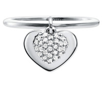 Ring MKC1121AN040 Love Heart Duo Ring Silver silber