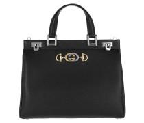 Tote Zumi Handle Bag Grainy Leather Black schwarz
