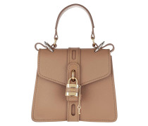 Satchel Bag Aby Shoulder Leather Cement Brown
