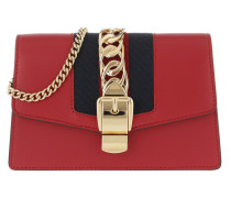 Sylvie Leather Mini Chain Bag Red Tasche
