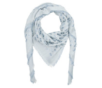 Wool Silk Cashmere Scarf Artic Accessoire blau