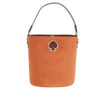 Beuteltasche Suzy Suede Small Bucket Bag Amber orange