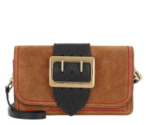 Shoulder Bag Buckle Tote Check Bright Toffee