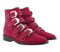 Elegant Studded Boots Fuchsia Schuhe