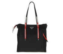 Tote Studded Tote Bag Nylon Nero/Fuoco schwarz