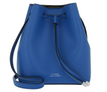 Debby Smooth Leather Drawstring Cobalt/Black Tasche