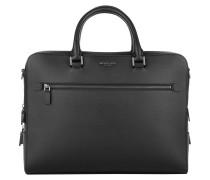 Harrison Double Zip Briefcase Black Herrentasche
