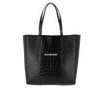 Tote Everyday Bag Shiny Croc Leather Black