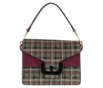 Satchel Bag Ambrine Tartan Print Crossbody Bag Multicolor bunt