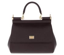 Sicily Mini Bag Calf Leather Purple Satchel Bag