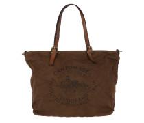 Shopping Bag Grande Tess Militare/Cognac Shopper