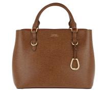 Bennington Satchel Bag Medium Lauren Tan/Orange Tote