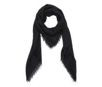 Logo Modal Silk Shawl Black Accessoire