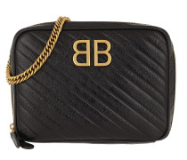 Umhängetasche Balenciaga Crossbody Bag Leather Black schwarz