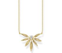 Halskette Necklace Leaves Gold