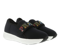 Sneakers Neoprene Slip On Nero schwarz