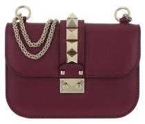Rockstud Small Leather Shoulder Bag Camelia Tasche