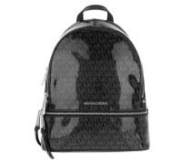 Rucksack Rhea Zip MD Backpack Black/Silver schwarz